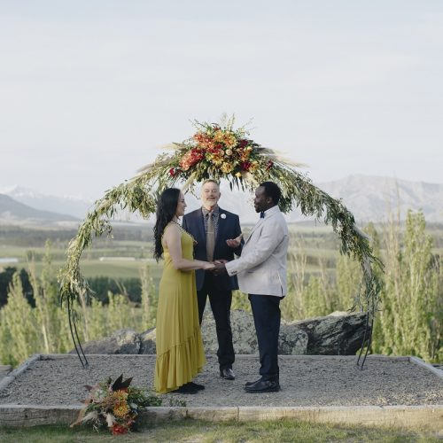 wedding arch for hire Wanaka Dreams