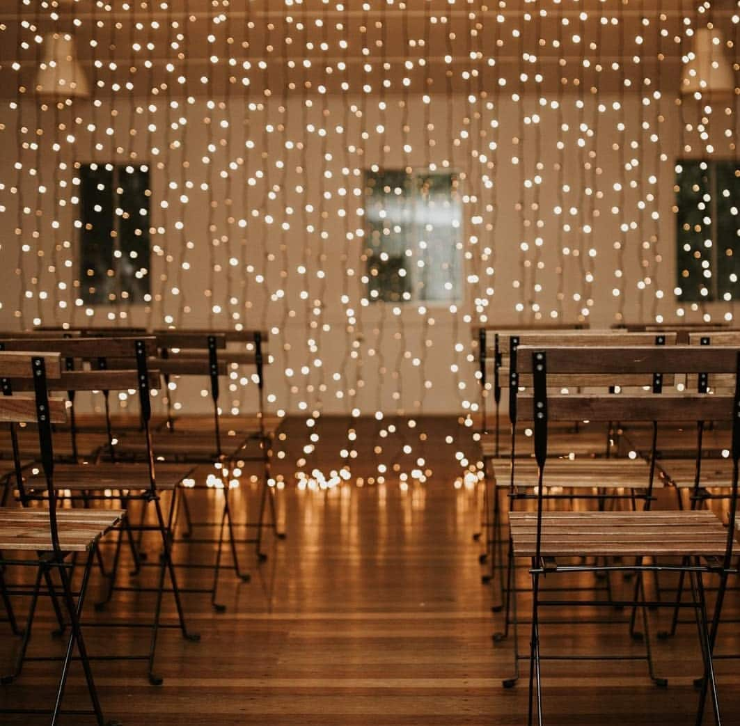 Fairy Light Curtain Wanaka Wedding Hire