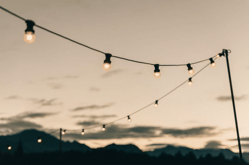 Festoon lights for hire