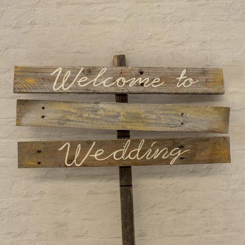 welcome sign - Wanaka Wedding